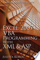 Excel 2007 VBA Programming with XML and ASP