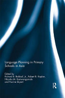 Language Planning in Primary Schools in Asia