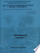 National Information Systems Security '95 (18th) Proceedings