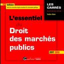 L'essentiel du droit des marchés publics 2017-2018