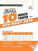 Super 10 Mock Tests for NTA NEET 2019 - 2nd Edition
