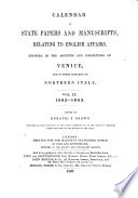 Calendar of State Papers and Manuscripts Relating to English Affairs