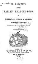 De Porquet s First Italian Reading book  Or  Raccolta Di Storie E Di Novelle  Veramente Morali