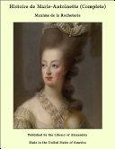 Pdf Histoire de Marie-Antoinette (Complete) Telecharger