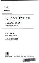 Quantitative Analysis Book