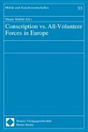 Conscription Vs. All-volunteer Forces in Europe