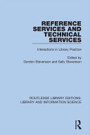Reference Services and Technical Services [Pdf/ePub] eBook