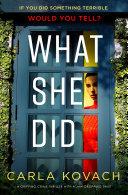 What She Did Pdf/ePub eBook