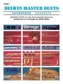 Belwin Master Duets (Saxophone), Vol 1: Advanced