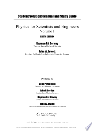 Download Study Guide with Student Solutions Manual, Volume 1 for Serway/Jewett's Physics for Scientists and Engineers, 9th Free Books - eBookss.Pro