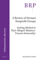 A Review of Deviant Nonprofit Groups
