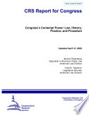 Congress S Contempt Power Book PDF