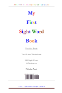 My First Sight Word Book