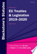 """Blackstone's EU Treaties & Legislation 2019-2020"" by NIGEL FOSTER"
