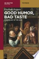 Good Humor  Bad Taste
