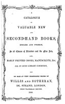 A Catalogue of Valuable New and Second-hand Books Pdf/ePub eBook