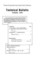 Technical Bulletin   Texas Engineering Experiment Station Book