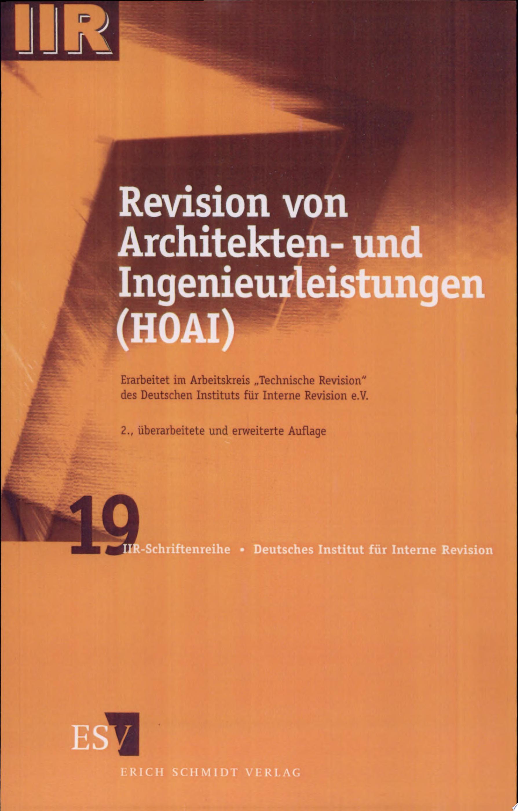 Revision von Architekten  und Ingenieurleistungen  HOAI