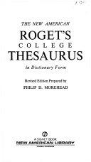 Roget  College Thesaurus