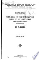 Concerning Leave of Absence and Sick Leave of Civil Employees of the United States Government and the Government of the District of Columbia Book PDF