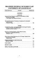 Brandeis Journal of Family Law