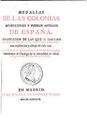 Medallas de las colonias, municipios y pueblos antiguos de Espana