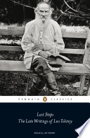 Last Steps  The Late Writings of Leo Tolstoy