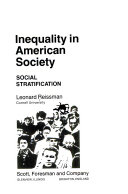 Inequality in American Society  Social Stratification Book PDF