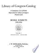 Subject Catalog  , Volume 5