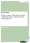 Reader reception of Bernardine Evaristo s  Girl  Woman  Other   A distant and close reading approach