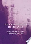 Sociolinguistics in England