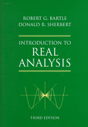 Introduction to Real Analysis Book