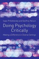 Doing Psychology Critically