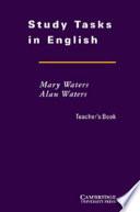 Study Tasks in English Teacher's Book