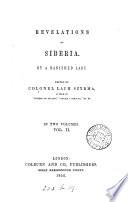 Revelations Of Siberia By A Banished Lady E Feli Ska Ed By Col Lach Szyrma