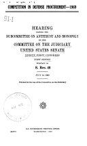Competition in Defense Procurement  1969