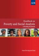 Handbook on Poverty and Social Analysis