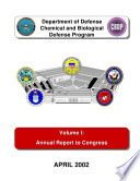 Department Of Defense Chemical Biological Radiological And Nuclear Defense Program Annual Report To Congress 2002