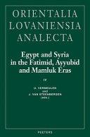 Pdf Egypt and Syria in the Fatimid, Ayyubid and Mamluk Eras IV