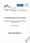 Proceedings of MAC ETL 2015 in Prague