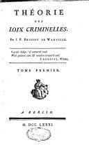Théorie des lois criminelles