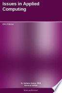Issues in Applied Computing  2011 Edition Book