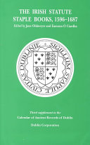 The Irish Statute Staple Books, 1596-1687