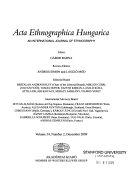 Acta Ethnographica Hungarica