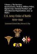 US Army Order of Battle, 1919-1941