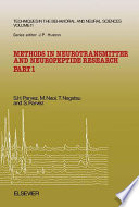 Methods in Neurotransmitter and Neuropeptide Research