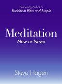 Meditation Now or Never [Pdf/ePub] eBook