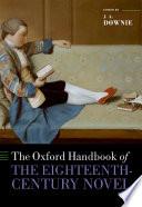 The Oxford Handbook Of The Eighteenth Century Novel
