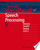 Springer Handbook Of Speech Processing Book PDF