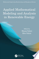 Applied Mathematical Modeling and Analysis in Renewable Energy Book